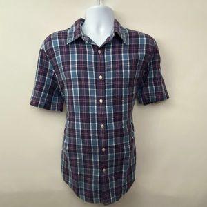 Men's St. John's Bay Plaid Casual Shirt Sz M W-19